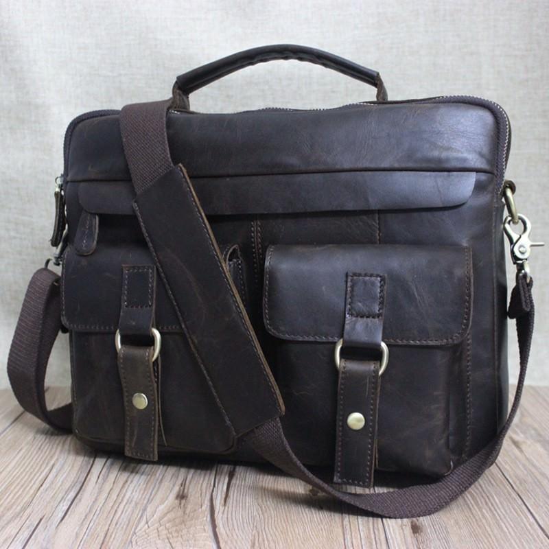 Мужская кожаная сумка-портфель Westborn Bestseller – натуральная кожа, солидный дизайн 194979