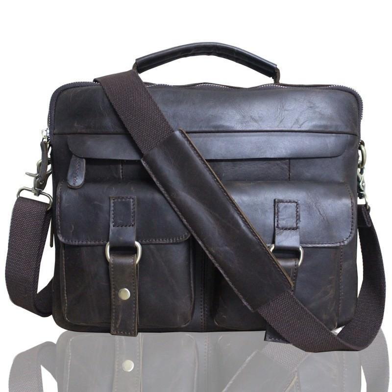 Мужская кожаная сумка-портфель Westborn Bestseller – натуральная кожа, солидный дизайн 194980