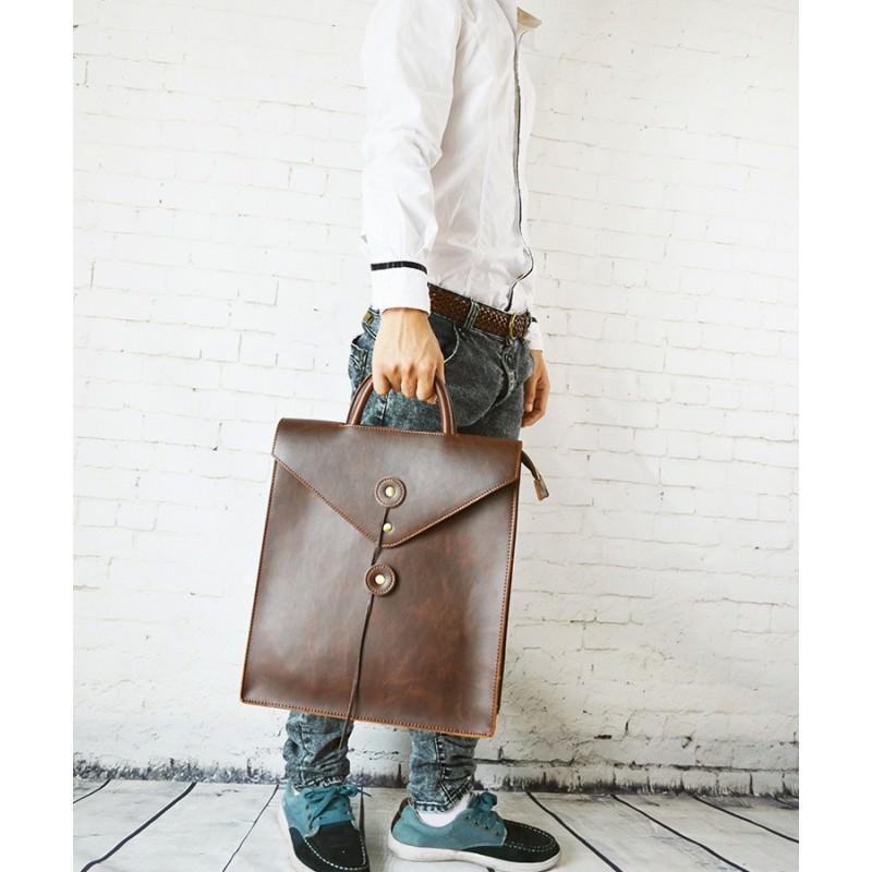 Мужская сумка-рюкзак в ретро стиле O`Honor Letter - Коричневый