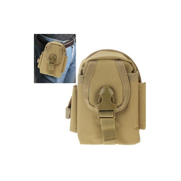 1446 - Многофункциональная камуфляжная нейлоновая сумка на пояс Landing для камеры, телефона и других вещей