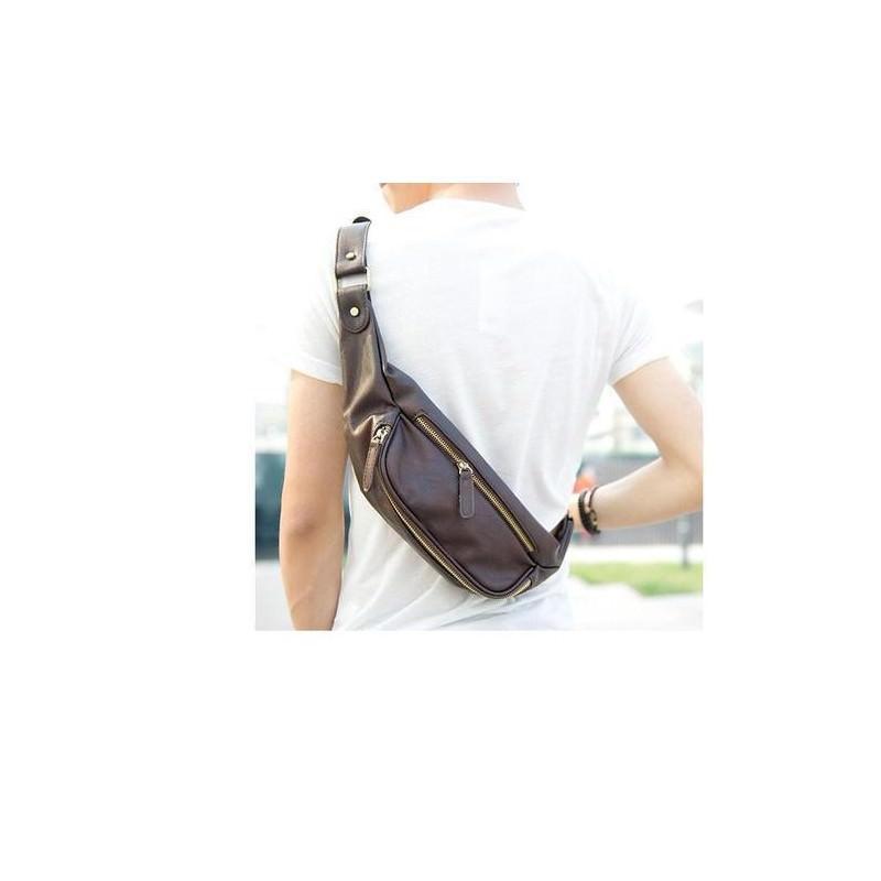 Мужская наплечная сумка (однолямочный рюкзак) O`Honor Mishima