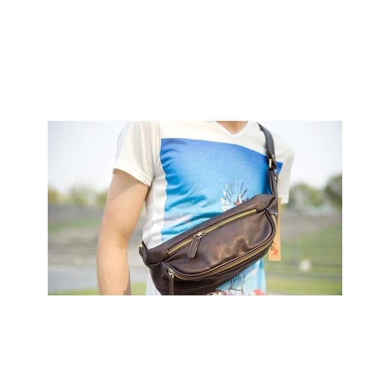 Мужская наплечная сумка (однолямочный рюкзак) O`Honor Mishima 195055