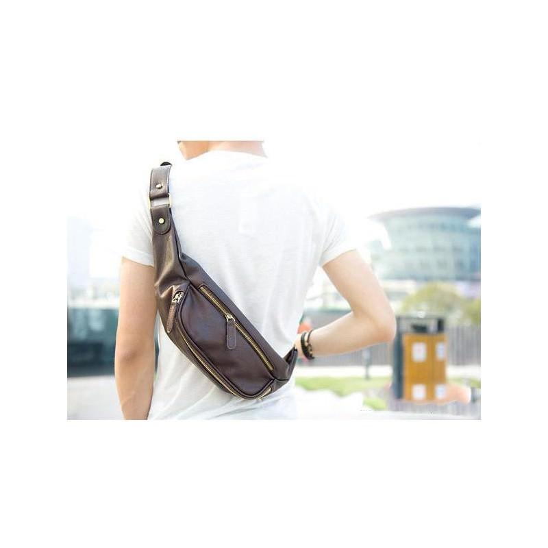 Мужская наплечная сумка (однолямочный рюкзак) O`Honor Mishima 195057