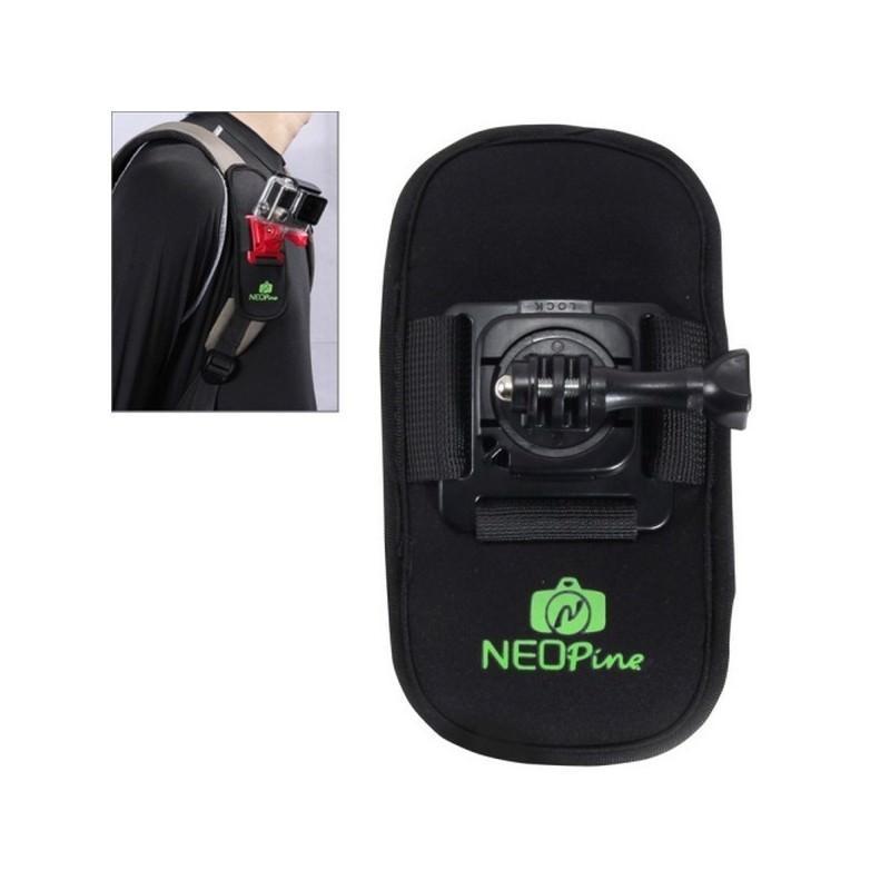 Крепление на рюкзак для экшн-камеры от NEOpine – держатель с функцией поворота на 360 градусов
