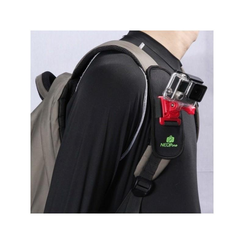 Крепление на рюкзак для экшн-камеры от NEOpine – держатель с функцией поворота на 360 градусов 195134