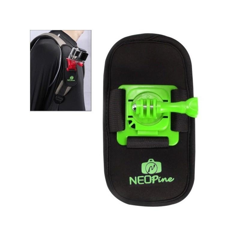 Крепление на рюкзак для экшн-камеры от NEOpine – держатель с функцией поворота на 360 градусов 195135