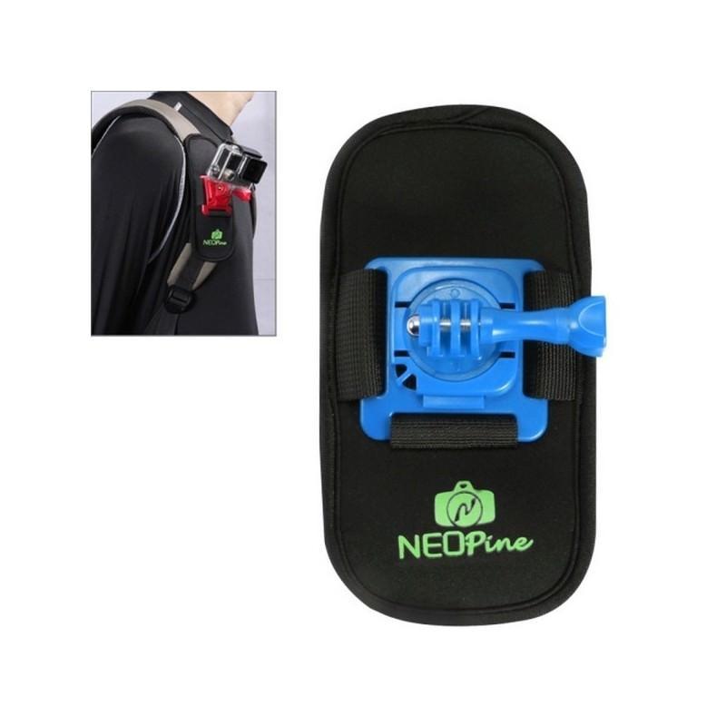 Крепление на рюкзак для экшн-камеры от NEOpine – держатель с функцией поворота на 360 градусов 195136