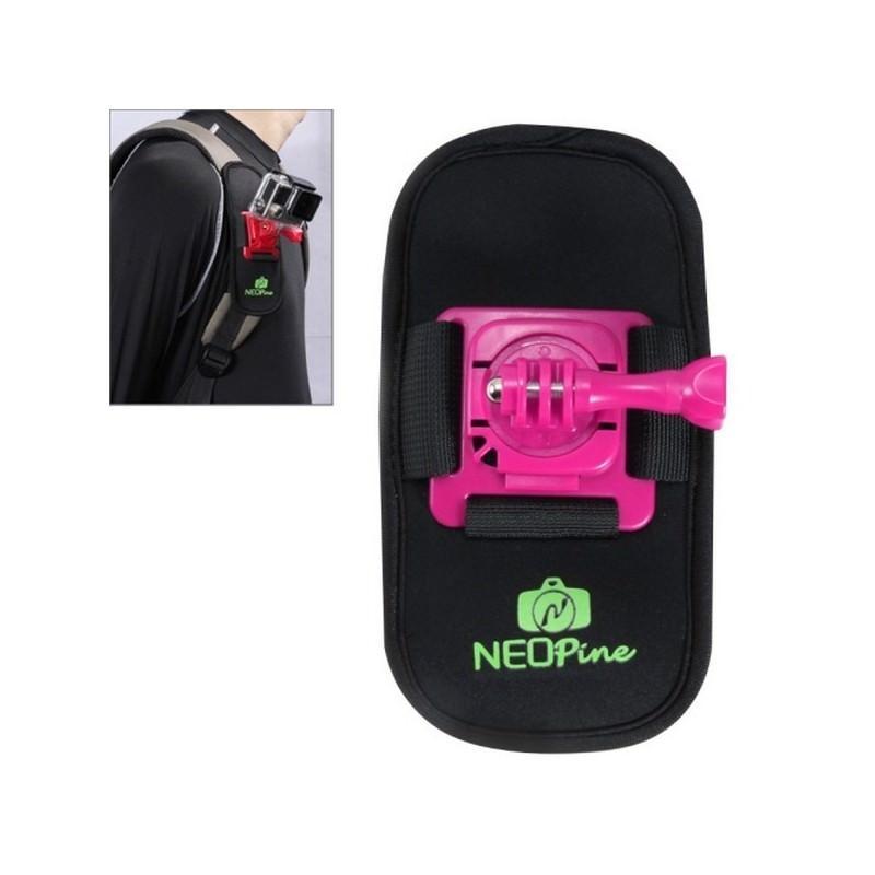Крепление на рюкзак для экшн-камеры от NEOpine – держатель с функцией поворота на 360 градусов 195137