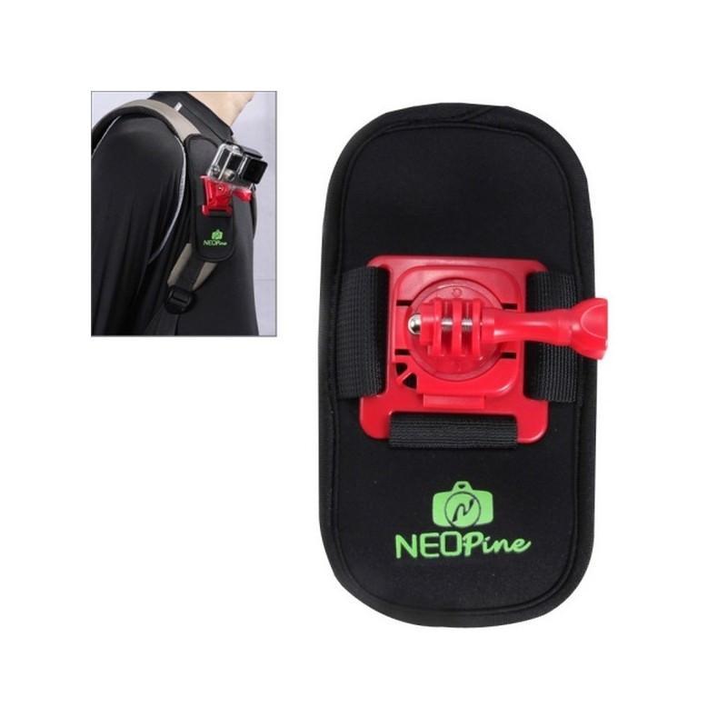 Крепление на рюкзак для экшн-камеры от NEOpine – держатель с функцией поворота на 360 градусов 195138
