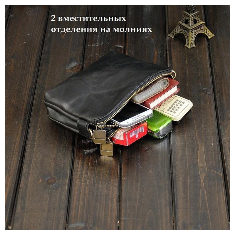Мужская кожаная сумка-кошель O`Honor Univers – 3 способа крепления, 2 отделения 195151