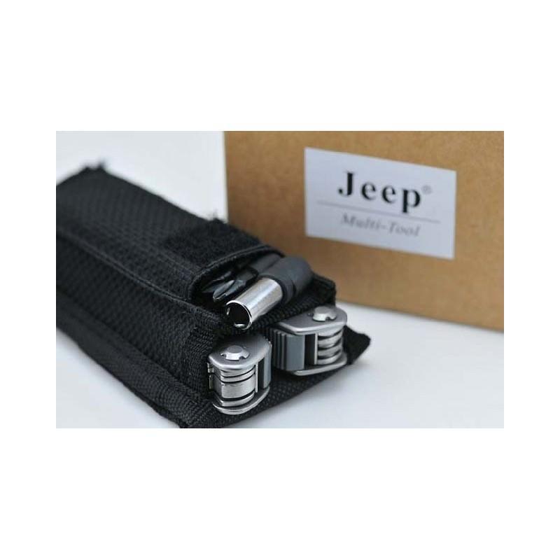 Мультитул JEEP0513 из нержавеющей стали: 9 инструментов в 1 + набор бит + чехол 195252
