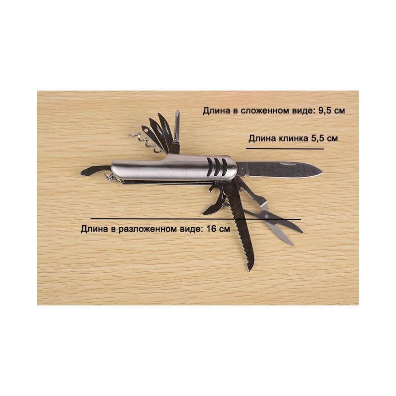 Многофункциональный нож-мультитул B1203: 12 инструментов в 1, нержавеющая сталь 195256
