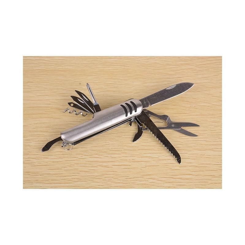 Многофункциональный нож-мультитул B1203: 12 инструментов в 1, нержавеющая сталь