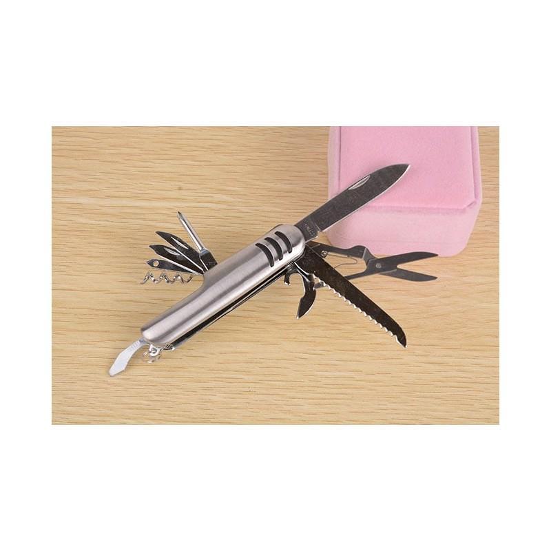 Многофункциональный нож-мультитул B1203: 12 инструментов в 1, нержавеющая сталь 195265