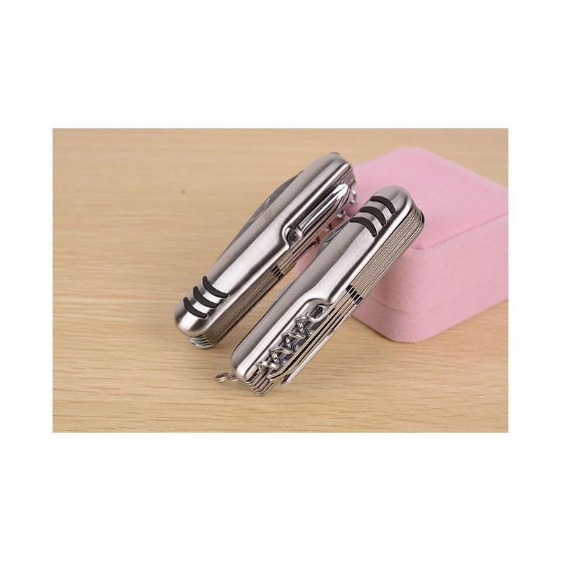 Многофункциональный нож-мультитул B1203: 12 инструментов в 1, нержавеющая сталь 195268