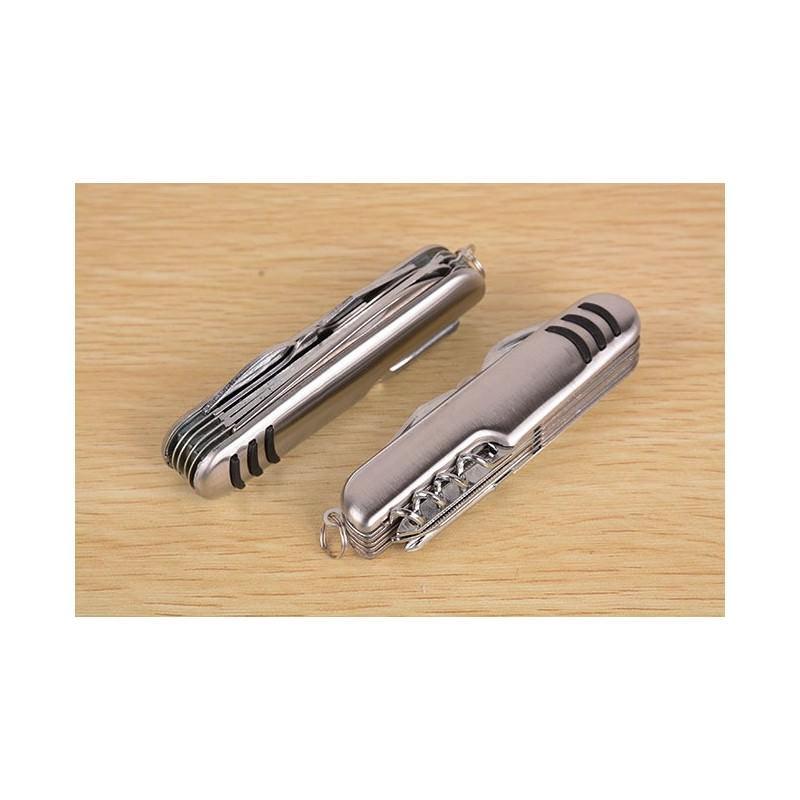 Многофункциональный нож-мультитул B1203: 12 инструментов в 1, нержавеющая сталь 195269