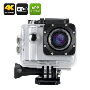 Экшн-камера ELE Explorer Pro – 4K, 12 Мп, голосовые подсказки, крепления и чехол-кейс IP68, угол обзора 170 градусов