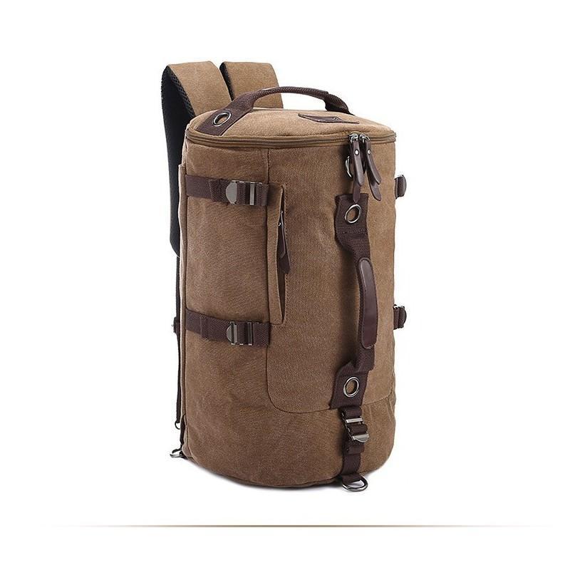 Дорожная сумка-рюкзак Dezerto Tubus: холщовая ткань, ручки-трансформеры, 45 л 195364