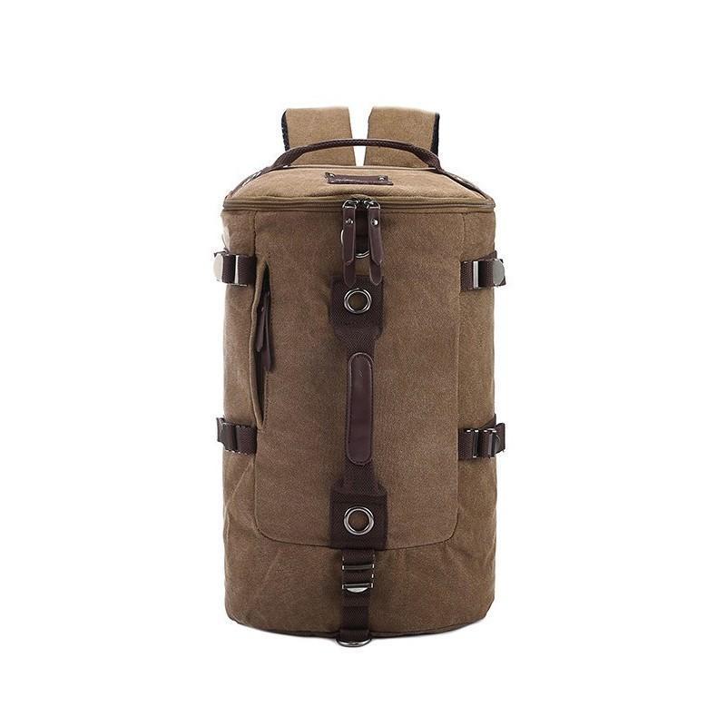 Дорожная сумка-рюкзак Dezerto Tubus: холщовая ткань, ручки-трансформеры, 45 л
