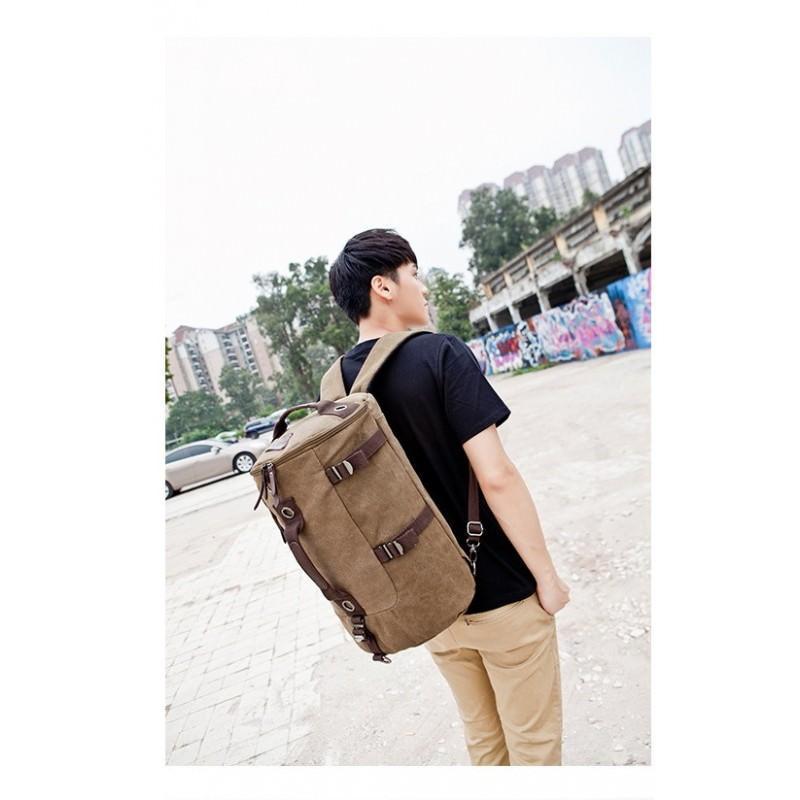 Дорожная сумка-рюкзак Dezerto Tubus: холщовая ткань, ручки-трансформеры, 45 л 195365