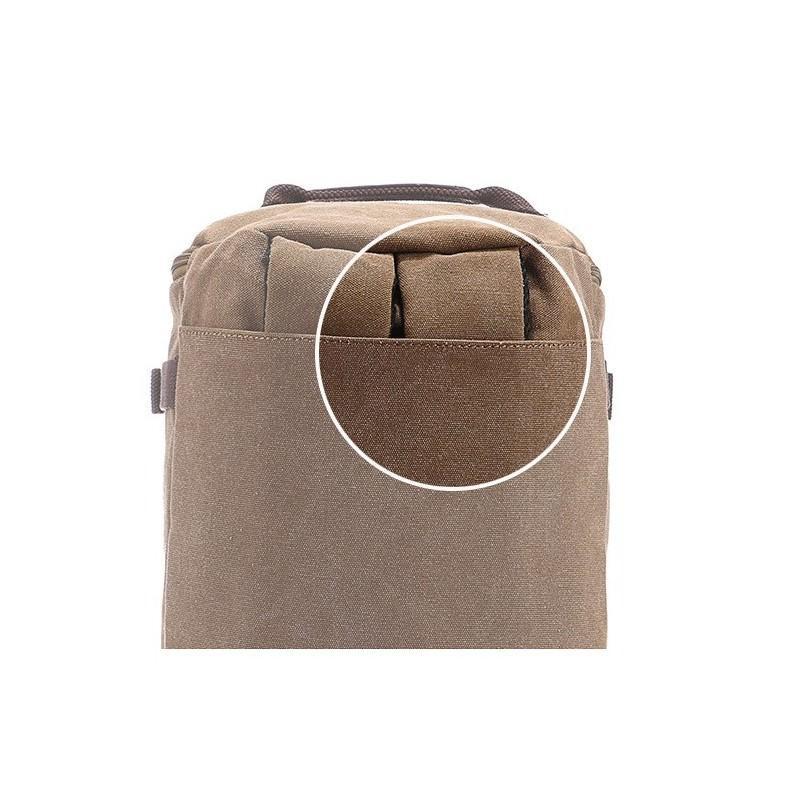14853 - Дорожная сумка-рюкзак Dezerto Tubus XL: холщовая ткань, ручки-трансформеры, 47 л, объемный внешний карман