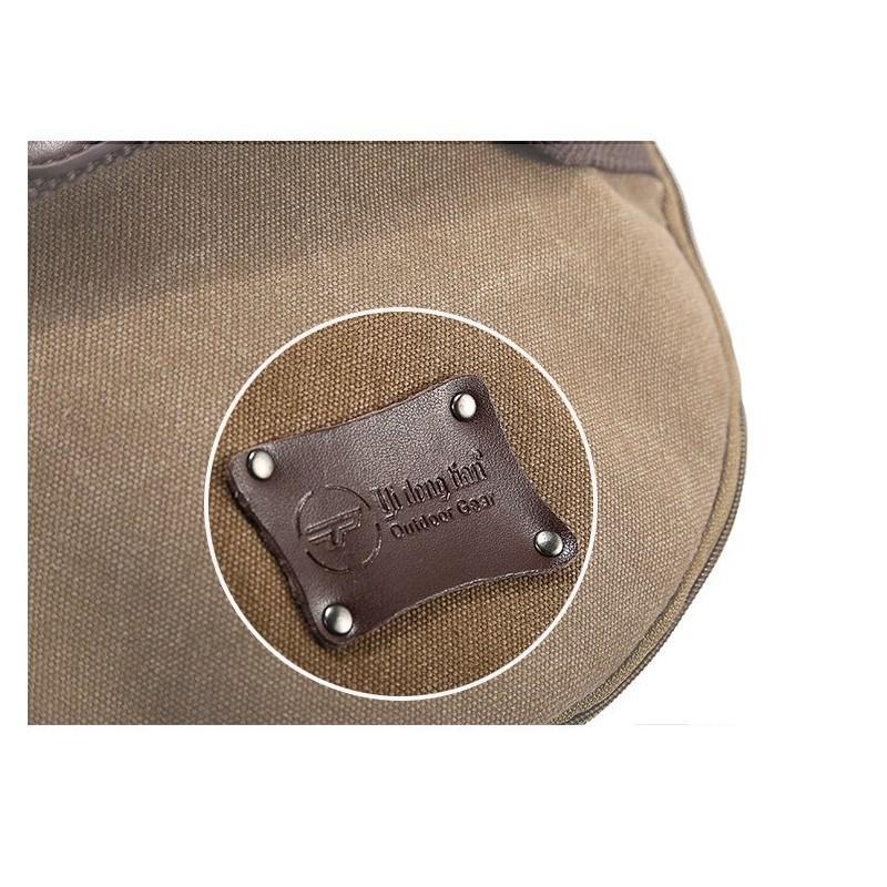 14855 - Дорожная сумка-рюкзак Dezerto Tubus XL: холщовая ткань, ручки-трансформеры, 47 л, объемный внешний карман