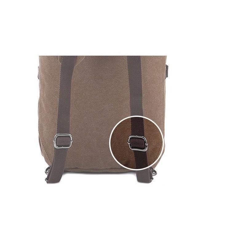 14857 - Дорожная сумка-рюкзак Dezerto Tubus XL: холщовая ткань, ручки-трансформеры, 47 л, объемный внешний карман