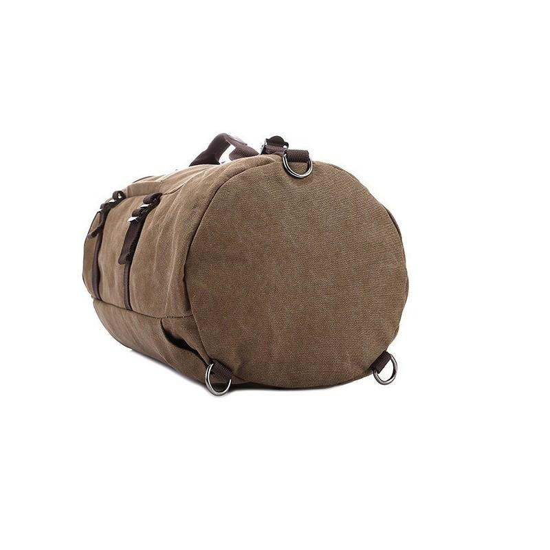 14859 - Дорожная сумка-рюкзак Dezerto Tubus XL: холщовая ткань, ручки-трансформеры, 47 л, объемный внешний карман