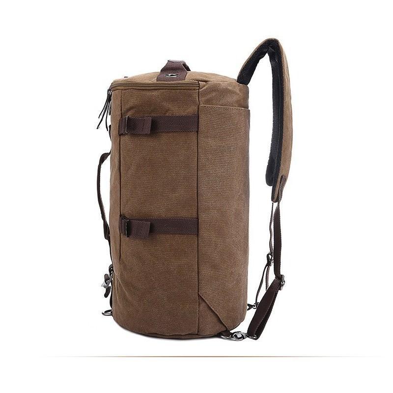 14861 - Дорожная сумка-рюкзак Dezerto Tubus XL: холщовая ткань, ручки-трансформеры, 47 л, объемный внешний карман