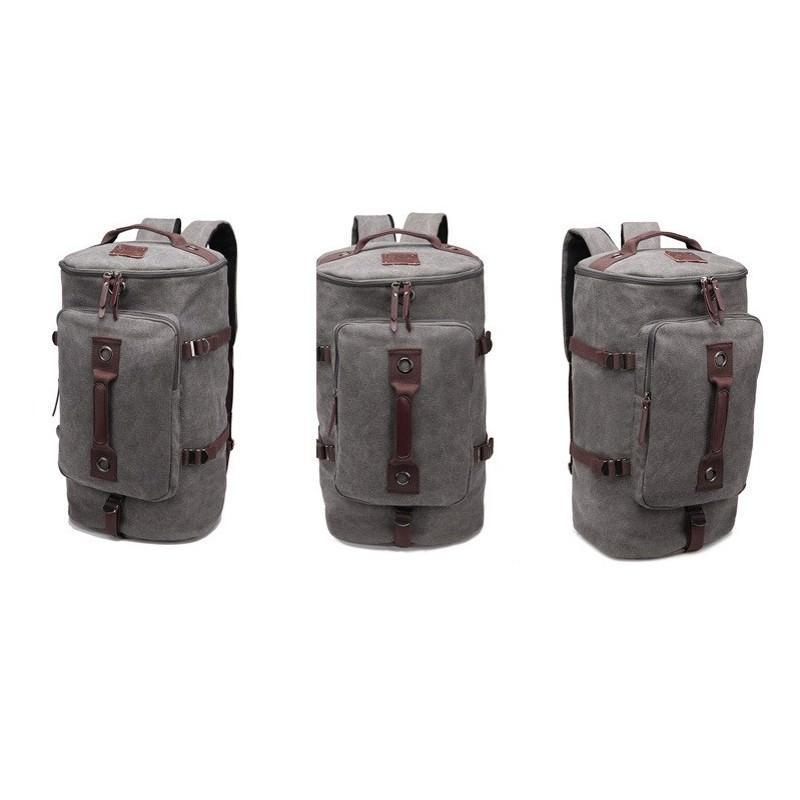 14872 - Дорожная сумка-рюкзак Dezerto Tubus XL: холщовая ткань, ручки-трансформеры, 47 л, объемный внешний карман