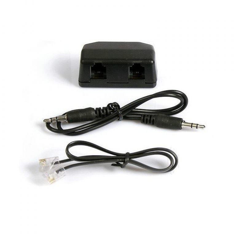 1529 - Переходник-адаптер с аудиовыходом для стационарного телефона P-B46