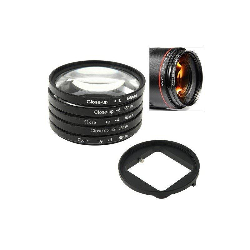 Набор макролинз 58 мм для камеры GoPro HERO3 6-в-1 с переходником