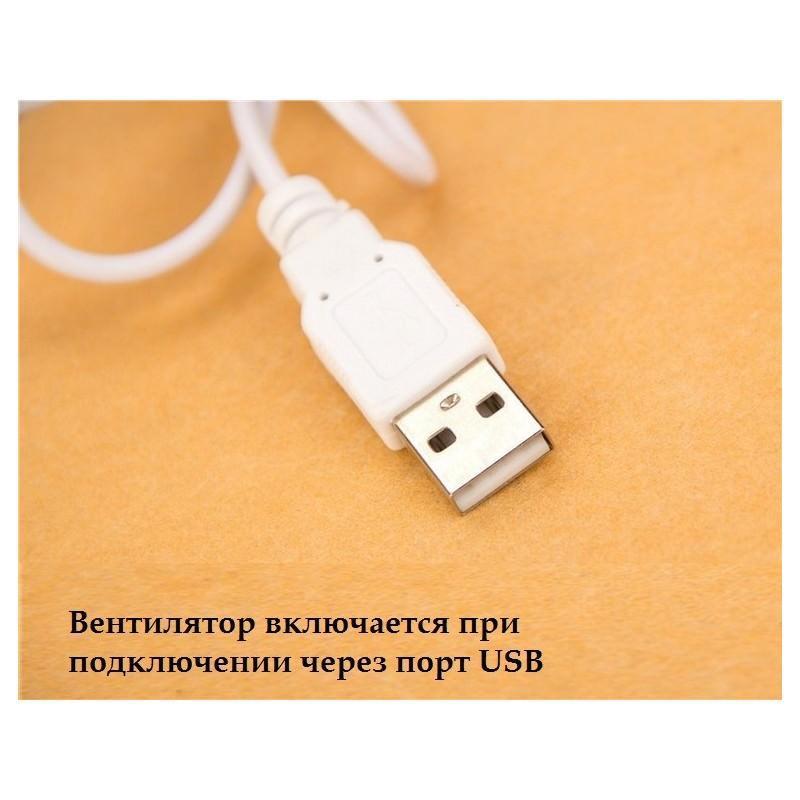 Мощный 6-дюймовый USB-вентилятор на прищепке 195879