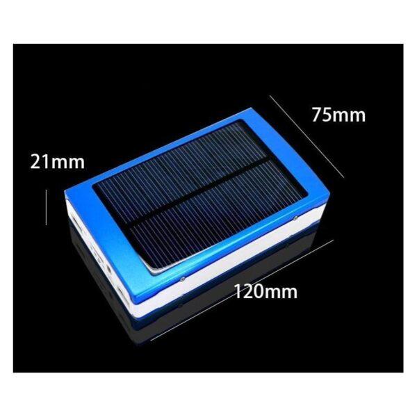 15502 - Солнечное зарядное SolarPowerBank 20 000: 6500 мАч + светодиодный фонарь 800 люмен