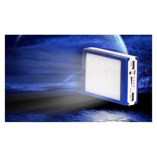 15504 - Солнечное зарядное SolarPowerBank 20 000: 6500 мАч + светодиодный фонарь 800 люмен