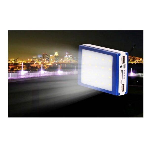 15505 - Солнечное зарядное SolarPowerBank 20 000: 6500 мАч + светодиодный фонарь 800 люмен