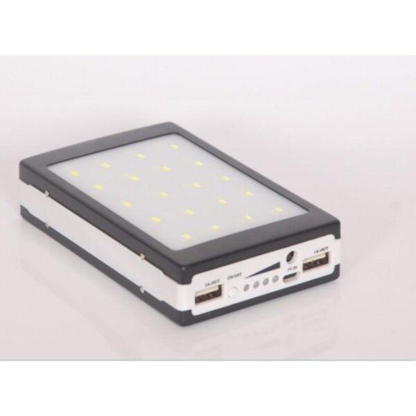 15508 - Солнечное зарядное SolarPowerBank 20 000: 6500 мАч + светодиодный фонарь 800 люмен