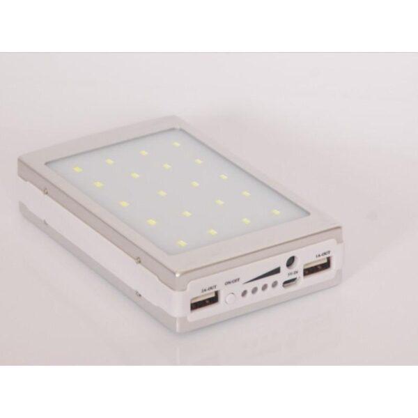 15509 - Солнечное зарядное SolarPowerBank 20 000: 6500 мАч + светодиодный фонарь 800 люмен