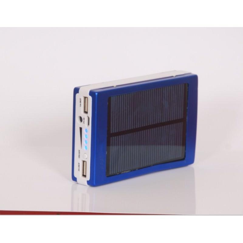 Солнечное зарядное SolarPowerBank 20 000: 6500 мАч + светодиодный фонарь 800 люмен 195963
