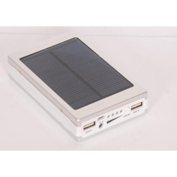 15511 - Солнечное зарядное SolarPowerBank 20 000: 6500 мАч + светодиодный фонарь 800 люмен