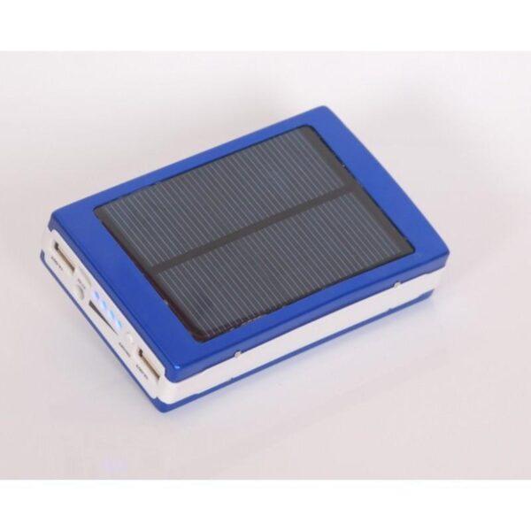 15512 - Солнечное зарядное SolarPowerBank 20 000: 6500 мАч + светодиодный фонарь 800 люмен