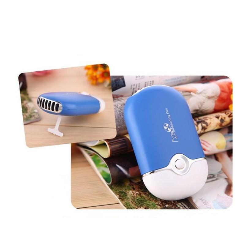 """Портативный """"Электровеер""""- USB вентилятор-кондиционер с системой влажного охлаждения - Синий"""