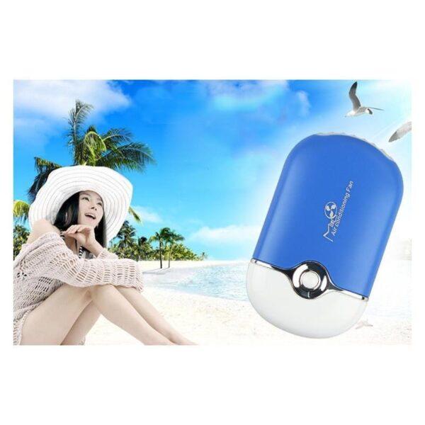 """15544 - Портативный """"Электровеер""""- USB вентилятор-кондиционер с системой влажного охлаждения"""
