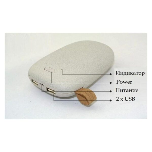 15945 - Стильный PowerBank M-Stone - 10400 мАч, 3 цвета, 2 х USB, индикатор заряда