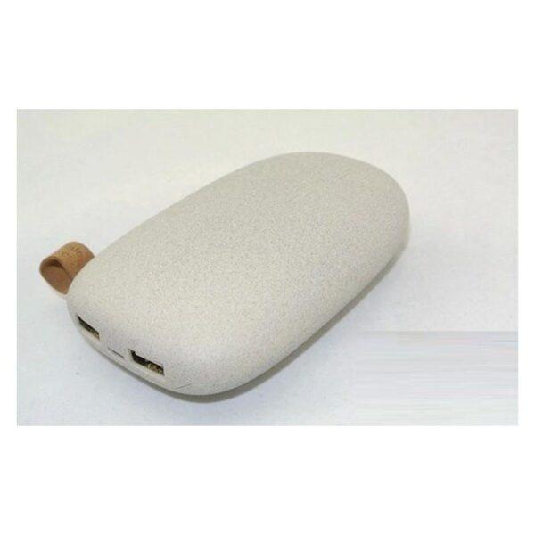 15946 - Стильный PowerBank M-Stone - 10400 мАч, 3 цвета, 2 х USB, индикатор заряда