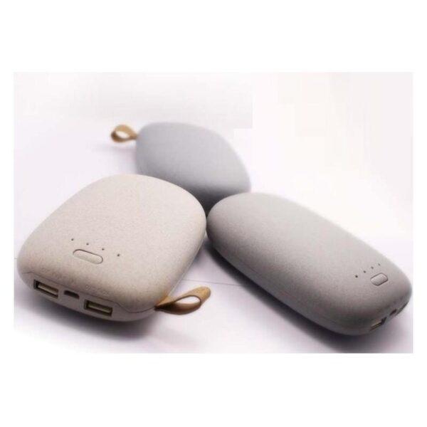 15952 - Стильный PowerBank M-Stone - 10400 мАч, 3 цвета, 2 х USB, индикатор заряда
