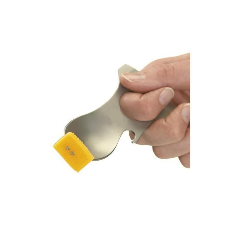Походная ложка-вилка – универсальный полевой мультитул для кухни: открывалка, 3 вида шестигранного ключа, нержавеющая сталь 196369