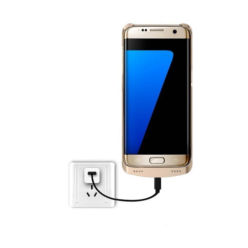 Чехол с батареей для Samsung S7 Edge – 5200 мАч, индикаторы заряда, флип-держатель 196442