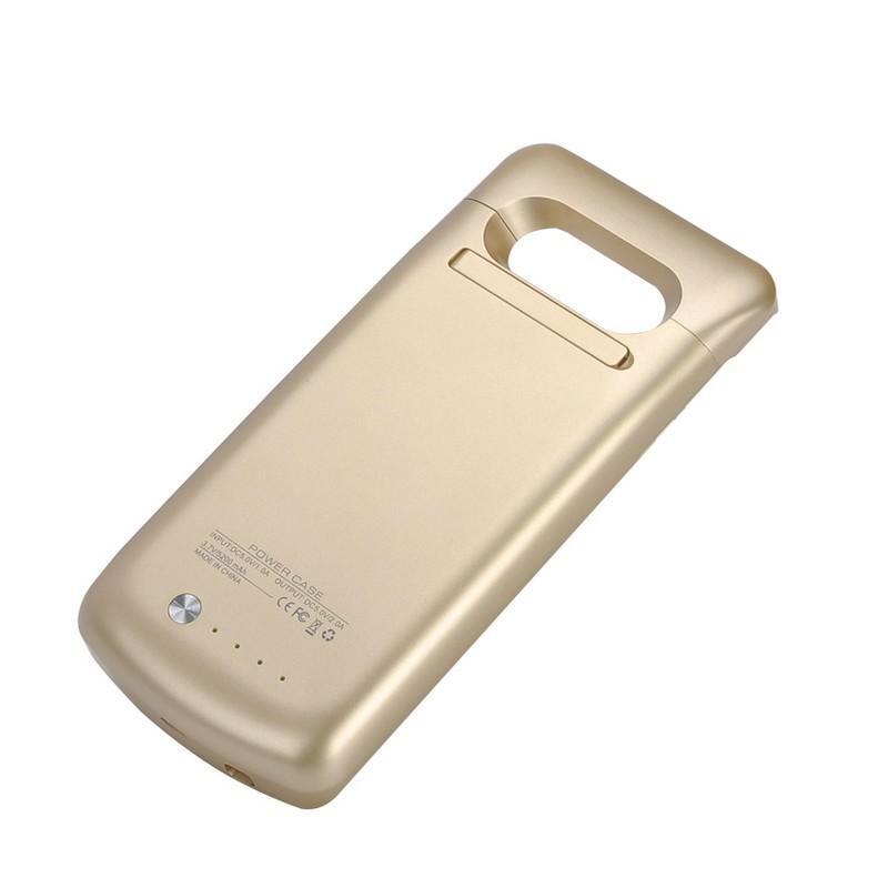 Чехол с батареей для Samsung S7 Edge – 5200 мАч, индикаторы заряда, флип-держатель 196445