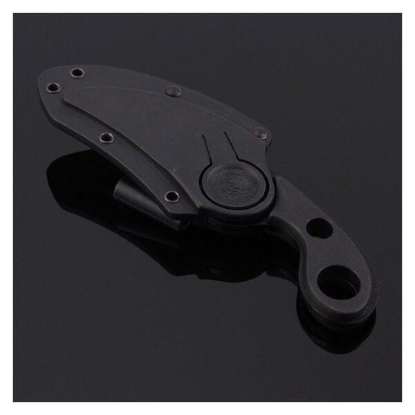 16198 - Городской полносеррейторный нож «Медвежий коготь»: 5 см клинок из нержавеющей стали